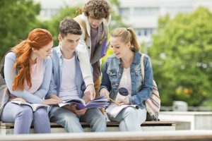 Students at a university