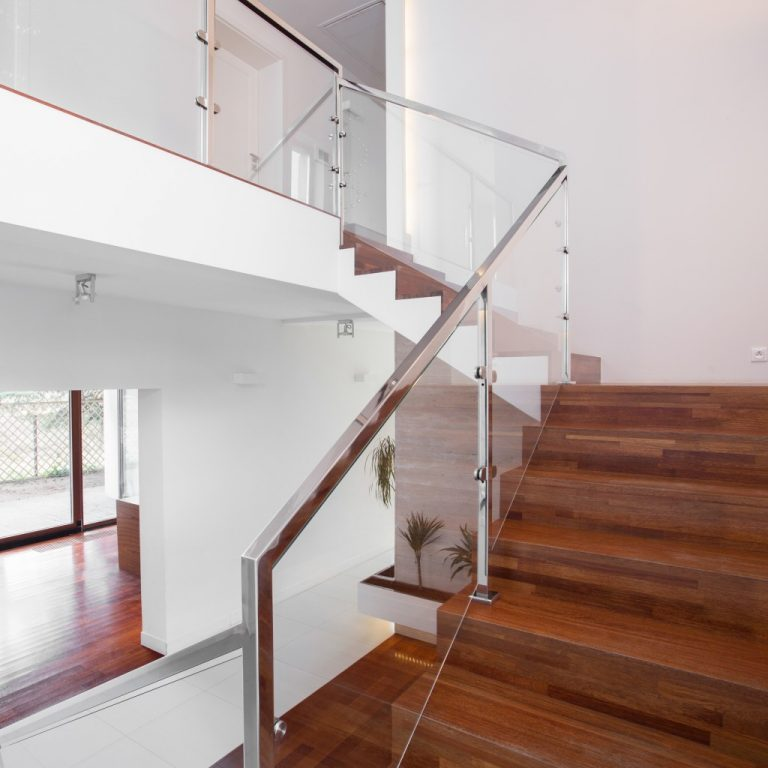 Solid wooden stairs
