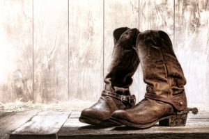 Pair of traditional cowboy boots