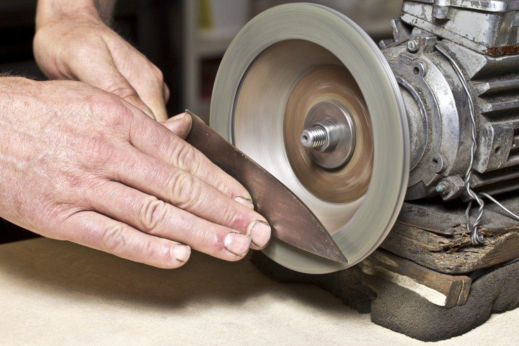 Iron being sharpened