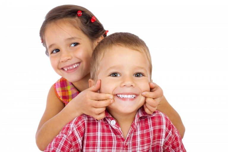 Little kids smiling