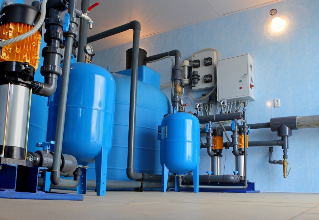 water softener system at home