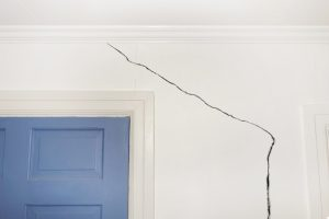 Crack on the wall of a home