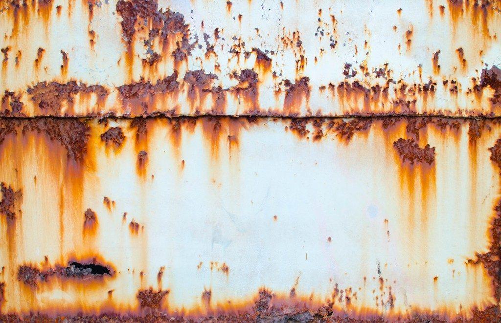Rusting metal