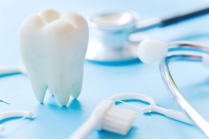 dental concept with tooth