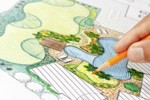 Landscapping plan for house exterior