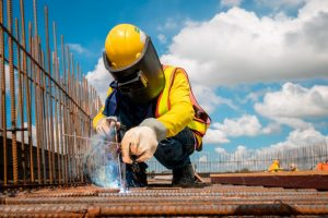 construction worker welding