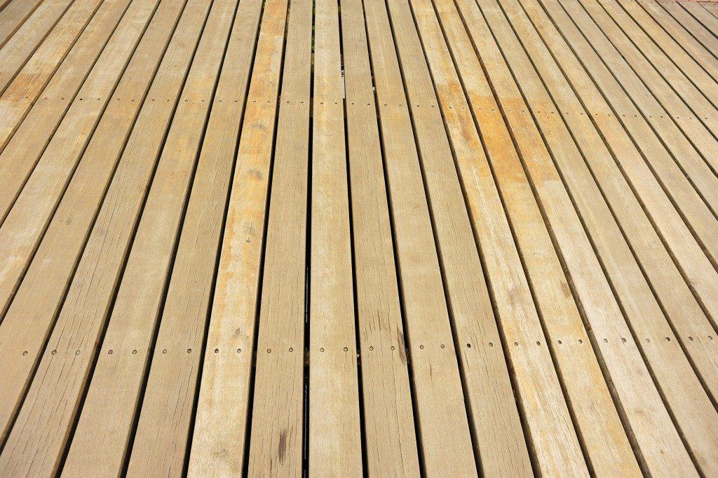 close shot of a wood deck