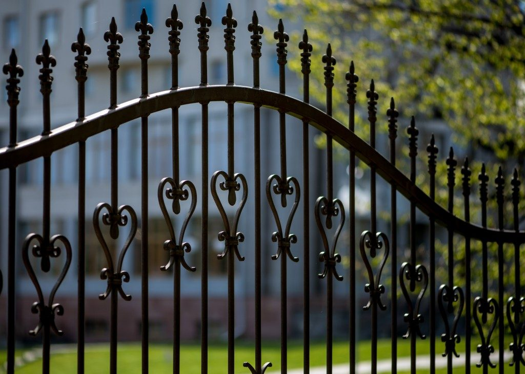 Steel fence with designs