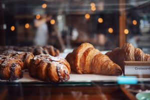croissants in a pastry shop