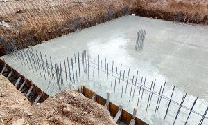 concrete foundation of home