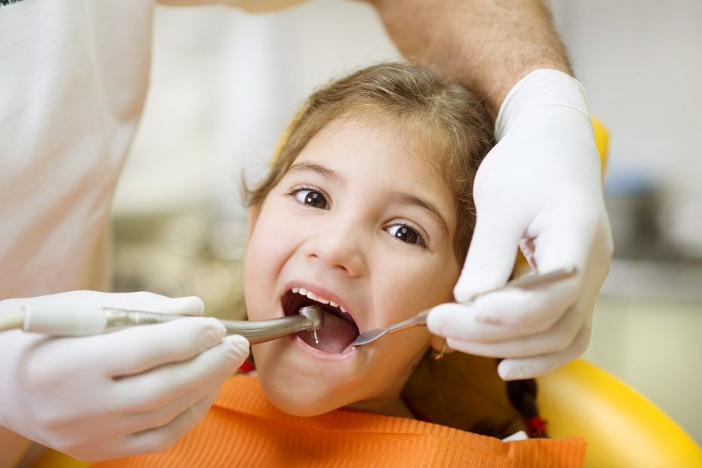 girl having dental check-up
