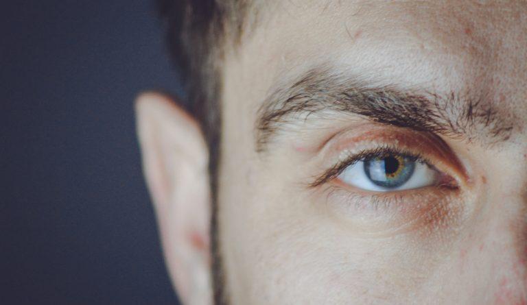 man's eyebrow