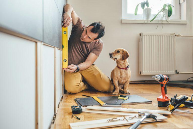 handyman doing home project