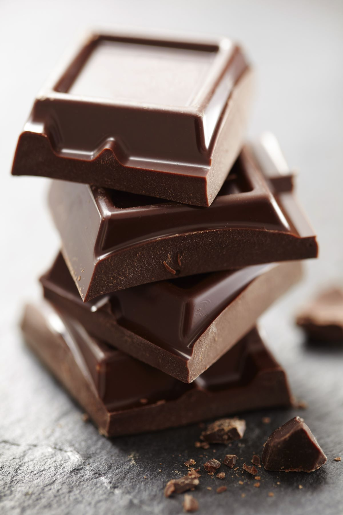 pieces of chocolate stacked on top of each other