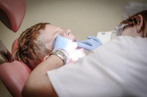 child having braces