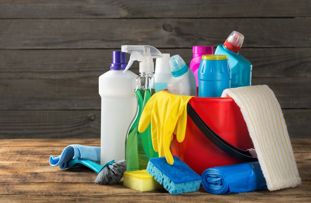 house cleaning products and materials