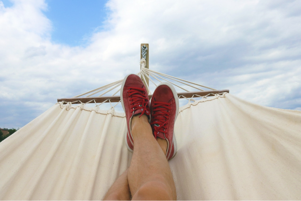 person on a hammock