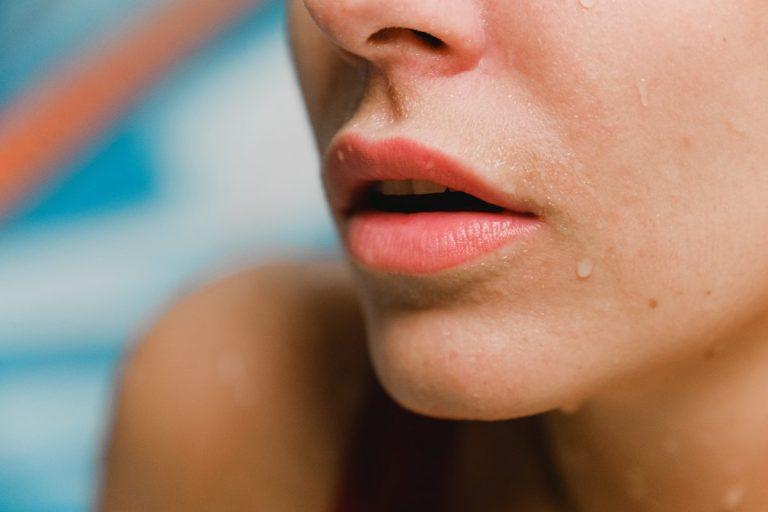 closeup of a woman's lips