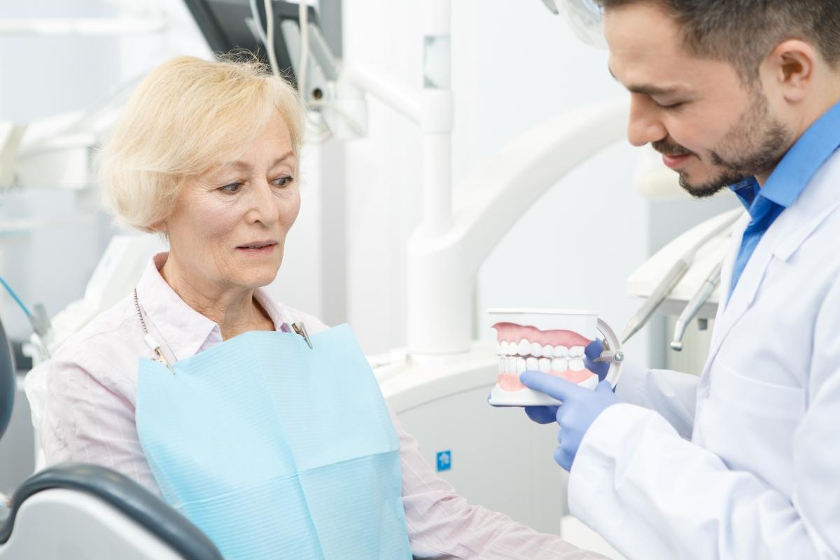 old lady an a dentist